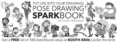 new pose drawing sparkbook ad cedric hohnstadt illustration