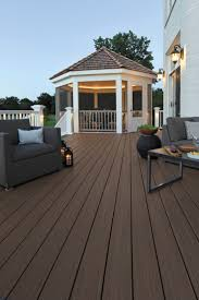 Drysnap Under Deck Rain Carrying System by Azek Harvest Collection Decking In Autumn Chestnut With Azek U0027s