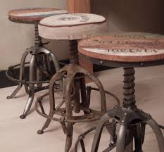rustic industrial bar stools table seating rustic industrial backless bar stool throughout and