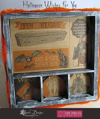 craftaholics anonymous halloween decorations creepy shadowbox tray
