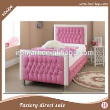 pink upholstered diamond tufted pu leather twin bed frame y buy