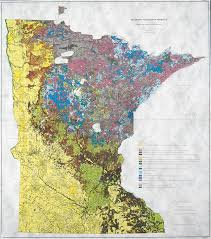Minnesota vegetaion images Marschner map of original vegetation museum collections up close jpg