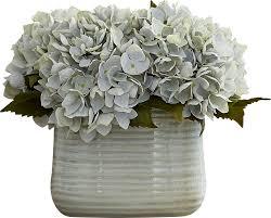 hydrangea centerpiece beachcrest home hydrangea centerpiece in decorative vase reviews