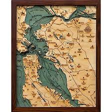 san francisco map painting the giving tree san francisco bay area wood 3d nautical map