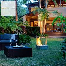 ecosmart fire mini t ventless outdoor fireplace stardust
