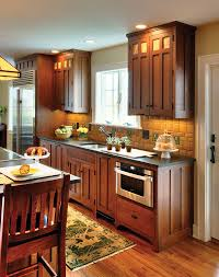 Craftsman Style Homes Interiors by Perfect Kitchen For A Pottery Collector Wood Cabinets Style And