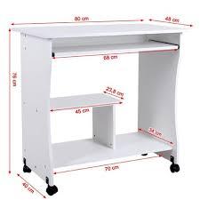 bureau etagere pas cher bureau informatique sur roulettes avec etagère blanc neuf top prix