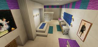 minecraft bathroom pink wallpaper wall design shower sink