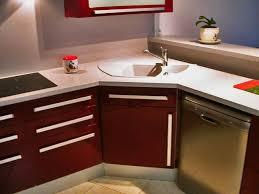 evier rond cuisine implantation évier en angle plaque cuisson en angle armoire en