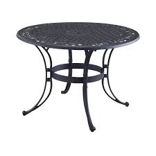 48 inch round black metal outdoor patio dining table with umbrella