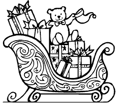 clipart sleigh coloring pages coloring