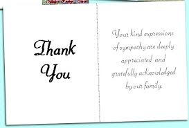 funeral thank you notes funeral acknowledgement cards bereavement thank you notes funeral