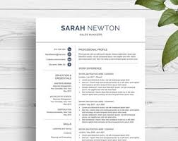 Two Page Resume Example by Resume Template Cv Template For Word Professional Resume