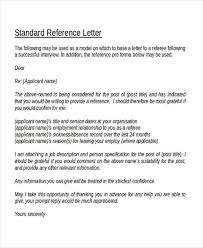 Reference Letter Template Word reference letter free character reference letter template exle