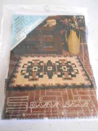 vintage new bernat latch hook rug canvas pattern oriental 31