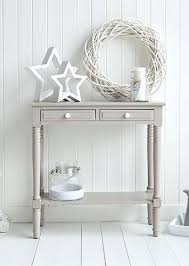 cream console tables ebay country shabby chic drawer table argos