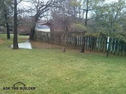 Drainage Problems In Backyard - lot drainage problems ask the builderask the builder