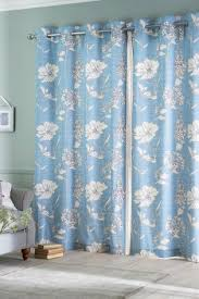 Blue Floral Curtains Buy Powder Blue Country Floral Print Eyelet Curtains From The Next