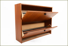 Modern Shoe Storage Bench Furniture Accessories Minimalist Brown Mid Century Style Wood
