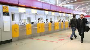 check in desk sign flughafen tegel airport bus sign transportation in berlin germany