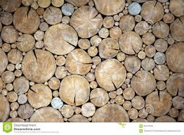 a wall of wood circle stock image image of wall section 65473443