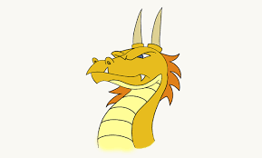 draw dragon head easy drawing guides