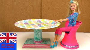 how to make a doll table doll crafts diy barbie table youtube