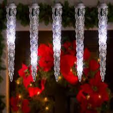 led shooting star lights 8 count led shooting star icicles christmas lights cool white