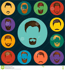 mans hair set of beards and mustaches vector trendy haircut types