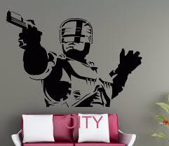 vinile poster del film acquista a poco prezzo vinile poster del robocop wall art sticker freddo movie poster decalcomania del vinile dormitorio club casa camera arredamento nurery