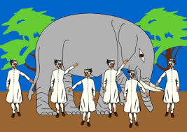 Blind Man And Elephant Six Blind Men And The Elephant