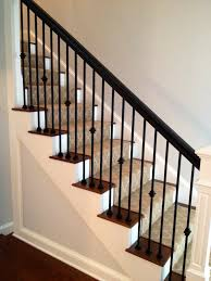 Wooden Banister Rails Appealing Metal Stair Handrail 46 Metal Stair Handrail Designs