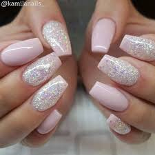 pink u0026 glitter nails nail design nail art nail salon irvine