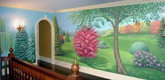 landscape mural in foyer silvere boureau landscape mural hand painted on foyer stairwell and upstairs landing walls private residence philadelphia pa