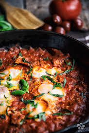 dinner egg recipes poached eggs in pizza sauce paleo leap