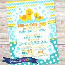 rubber duck baby shower rub a dub dub baby shower baby boy invite rubber duck baby