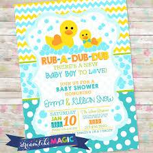 rub a dub dub baby shower baby boy invite rubber duck baby