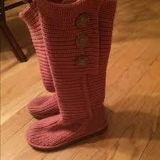 ugg crochet slippers sale 63 ugg shoes sale pink knit uggs from s closet on