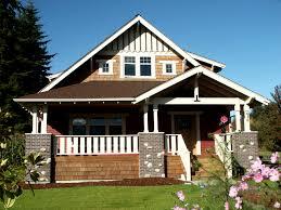 Blue Craftsman House by Bainbridge Island Bungalow Exteriors