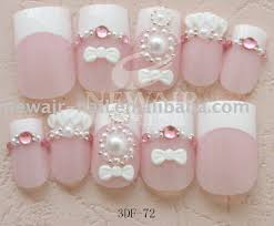 rhinestone nail art rhinestone decorated nail art tip cute