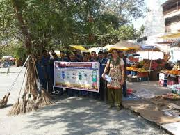 vashi market special thematic cleanliness drive at sector 9 market vashi