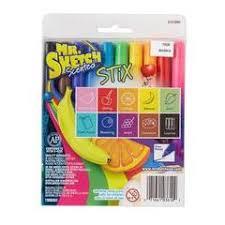 mr sketch scented stix markers fine tip 12ct multicolor target