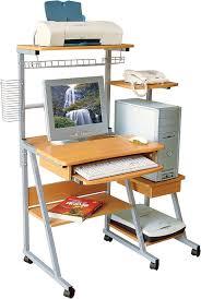 Recessed Monitor Computer Desk Mobile Computer Desk With Semi Recessed Monitor Platform 3 Gif