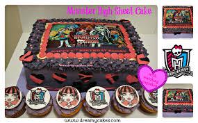 sheet cake monster theme