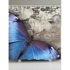 Blue Butterfly Curtains Butterfly Shower Curtains Cheap Casual Style Online Free Shipping