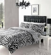 Duvet Quilt Cover Black U0026 White King Size Duvet Quilt Cover Bed Set Zebra Animal