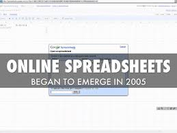 Online Spreadsheets The Spreadsheet By Adam Tratt