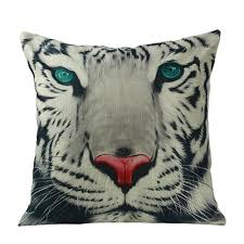 wholesale pillow case fashion pillowcases watercolor tiger