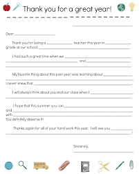 end of year thank you note notes template and note