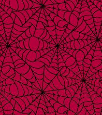 halloween spirit fabric flocked web taffeta red joann